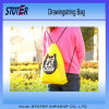 Fashion Eco Friendly Updated Black Polyester Drawstring Bag