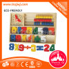 Preços de fábrica de madeira Bead Abacus Montessori ensinando brinquedo