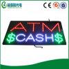 Sinal do indicador do dinheiro do ATM
