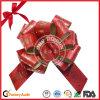 Curva floral da tração da fita do Natal do pacote POM POM do presente do estilo