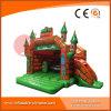 Princesa mágica verde inflable Bouncy Castle para el juguete de los cabritos (T2-010)