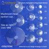 Cuvette amovible transparente d'aspiration de tête de champignon de couche de PVC de qualité