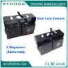 Cámara analogica dual del vehículo de la definición del cubo 1.3MP de la lente del revés impermeable del coche de la caja del metal alta