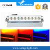 9PCS 배터리 전원을 사용하는 무선 DMX 벽 세탁기 빛