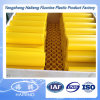 HDPE plástico Rod no HDPE 100% amarelo material do Virgin Rod