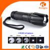 Antorcha táctica Fleshlight del foco ajustable recargable LED de la fuente de la fábrica de China