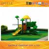 de 114mm Gegalvaniseerde Post Kleurrijke Apparatuur van de Speelplaats van de Kinderen van het Dak van de Dinosaurus Openlucht