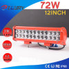 72W LED de 12 pulgadas Barra de luz de coches Light Bar