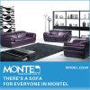 居間の家具のソファー、現代革ソファー、部門別のソファー