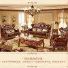 Combinazione europea del sofà del cuoio del blocco per grafici di legno solido di stile