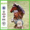 Смола Ручная роспись Герой и лошадь архаический Декор (NF86127A)