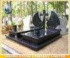 De kwaliteit poetste Zwarte Grafsteen Garnite op