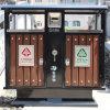 Мусорная корзина охраны окружающей среды Стал-Древесины (A6502)