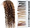 22  pelucas baratas mojadas del pelo y onduladas indias humanas del frente del cordón