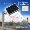 Todos en una luz de calle solar con la batería de litio, sensor de movimiento de PIR