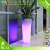 Crisol de flor encendido LED colorido de los muebles del jardín