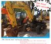 Originale usato di prezzi dell'escavatore della rotella della Hyundai R60W-7 buon in azione