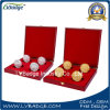 Zoll geprägte Firmenzeichen-Andenken-Münze mit Verpackungs-Kasten