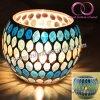 Kop de van uitstekende kwaliteit van de Kaars van de Houder van de Kaars van het Glas van het Mozaïek voor het Decor van het Huis