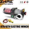 Mini torno eléctrico de poca potencia de UTV 12V 2000lbs con la cuerda de alambre