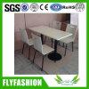 Gebruikte Eettafel Restaurant en Chair voor 4 Persons (dt-22)