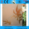 3-8mm Clear Rh-9 Acid Etched Patterned Glass mit CER u. ISO9001
