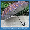 플라스틱 덮개 우산이 똑바른 자동적인 열리는 승진 선물 비에 의하여가 아무도 똑똑 떨어진다