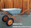 構築のツールのための二重車輪の手押し車Wb6425