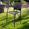 등나무 또는 고리버들 세공 바 의자 작은 술집 고정되는 등나무 가구