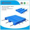 plateau en plastique de palette de HDPE de 1100*1000*170mm du réseau 3 de turbines de charge lourde en plastique de défilement ligne par ligne pour des produits d'entrepôt