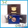 Reciclado crear la bolsa de papel para requisitos particulares con la impresión de la insignia