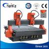 Máquina del ranurador del CNC de la carpintería del CNC de 2 husos para el gabinete de los muebles