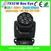 Глина Paky 7X15W Bee Eye СИД Moving Head