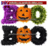 Abóbora da vaia de Tinseli da decoração da HOME do partido de Halloween assustador (H8072)