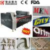 Cortadora de gran tamaño del laser para la letra del acero inoxidable, aluminio, metal, acrílico, madera, plexiglás