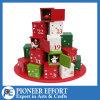 Diseño de madera del rectángulo del calendario del advenimiento para las decoraciones y los regalos de la Navidad