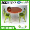 A mobília encantadora do miúdo do projeto ajusta a tabela do miúdo com cadeira (KF-07)