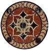 モザイク模様の大理石のウォータージェットの円形浮彫り