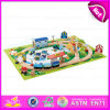 2015 mini Wooden Toy Railway Toy Train, Children Toy Thomas Train Toy, Colorful 46/S Wooden Christmas Toy Train Set Toy W04D013