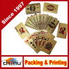 Plataforma de cartões de jogo plásticos do póquer do chapeamento da folha de ouro 24k