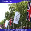 깃발을 광고하는 국기가 폴리에스테 세계를 인쇄하는 관례에 의하여