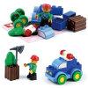 Le véhicule de police éducatif du jouet DIY bloque le jouet