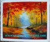 Pittura a olio, bella pittura a olio, pittura a olio di paesaggio