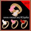 Goud Geplateerde Ringen met de Kat van het Email