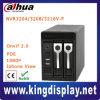 Onvif H. 264 4/8/16 de gravador de vídeo vertical da rede da canaleta 2HDD