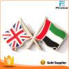 Het verenigde Arabische Kenteken van de Speld van de Vriendschap van de Vlag van de V.A.E van Emiraten en van de Vlag van het Verenigd Koninkrijk