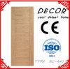 Porte affleurante en bois machinée par placage normal populaire de chêne de conception simple