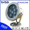 Luz impermeable y ahorro de energía 6W de la piscina del LED