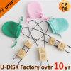 Presente da promoção com a vara instantânea de madeira do USB do saco de veludo (YT-8120L)
