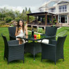 Outdoor rotin Wicker Table et chaises